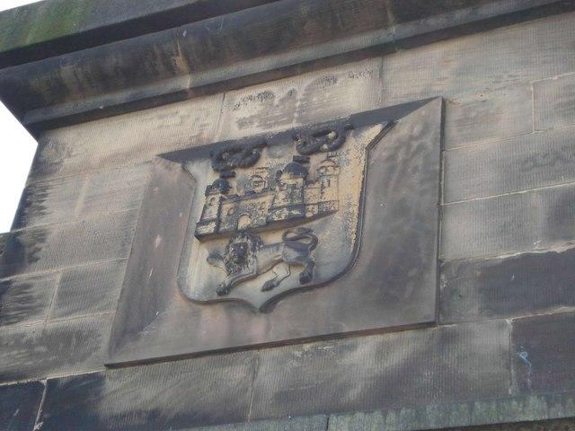 Stafford Coats of Arms on Longton railway bridge