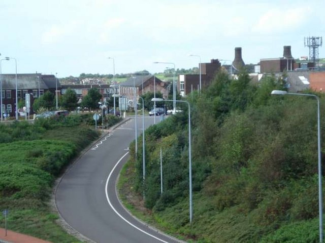 Slip road from Longton onto the A50