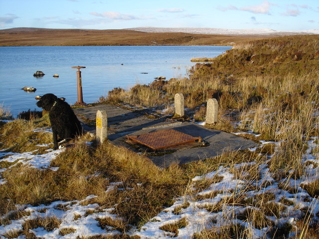 Waterboard equipment on Loch an t-Seana-bhaile