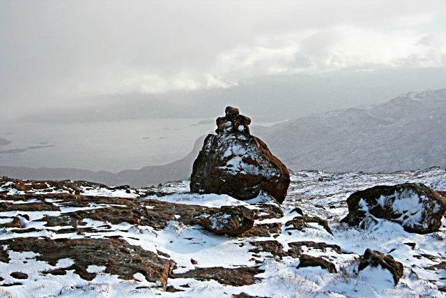 Cairn on Sgurr nan Conobhan