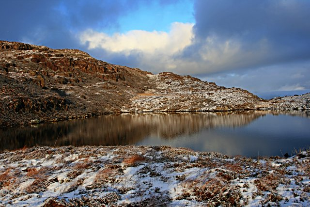 Lochan at the south-eastern end of Meall Gorm