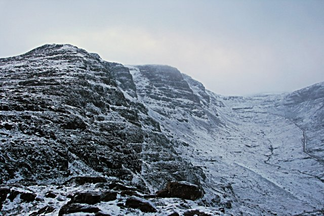 The northern crags of Meall Gorm