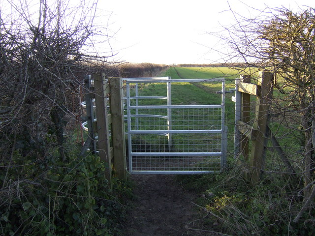 Footpath westwards