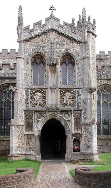 St John the Baptist, Thaxted, Essex - Porch