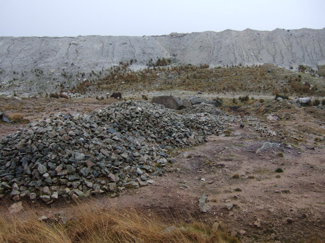 Edge of claypit, Shaugh Moor