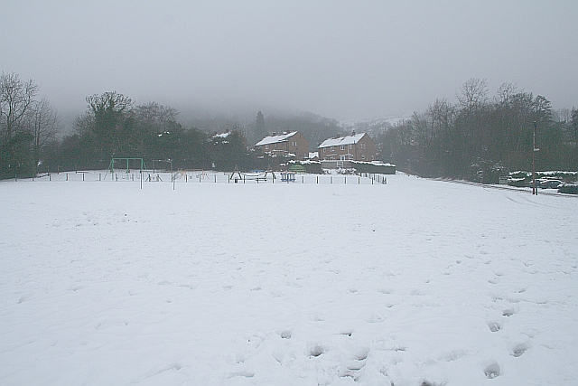 Assarts Playing Field in the February Snow