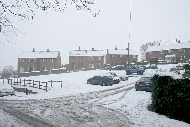 Heathlands Close in the February Snow