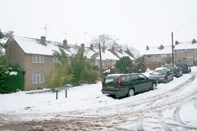 Wells Close in the February Snow