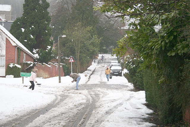Clearing the Snow in Assarts Road
