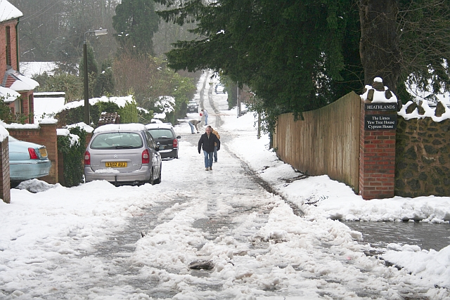 Assarts Road in the February Snow