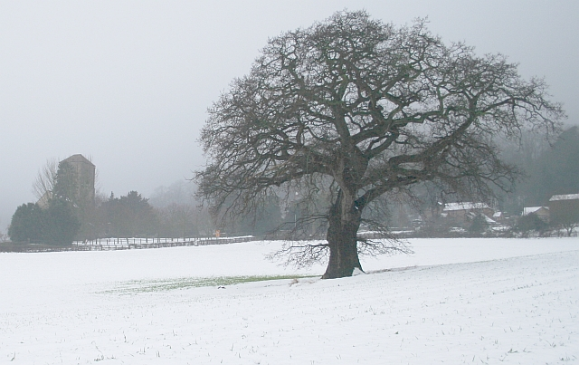Little Malvern in the February Snow