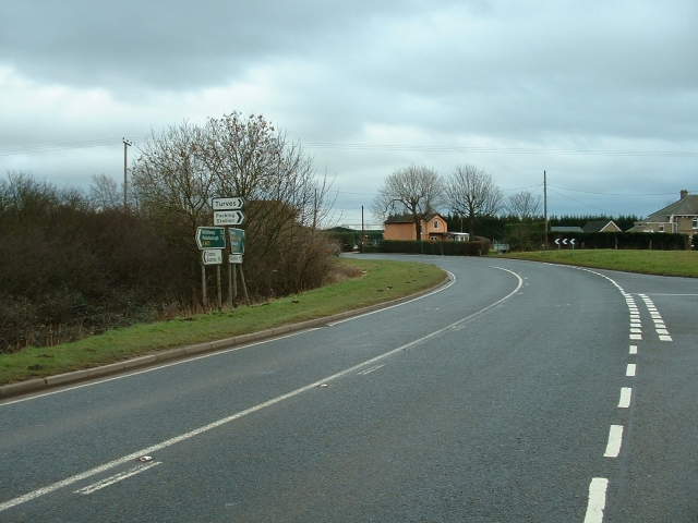 The Turves road junction on the A605