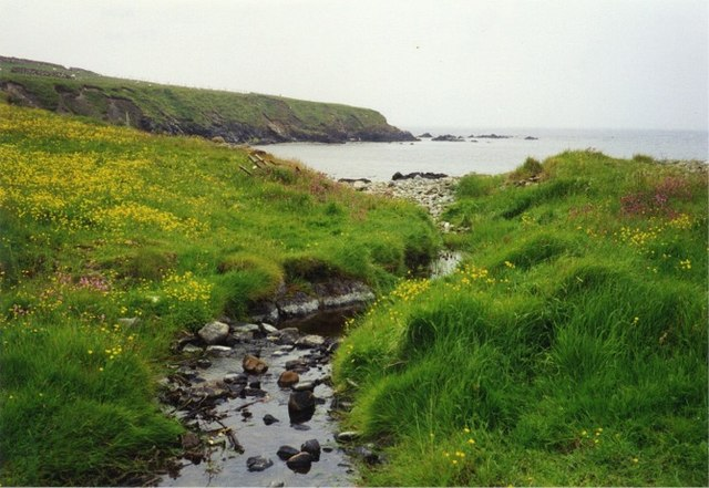 Burn flowing into Wick of Aith, Fetlar
