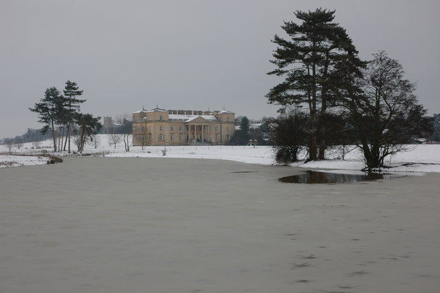 Croome Court viewed across Croome River