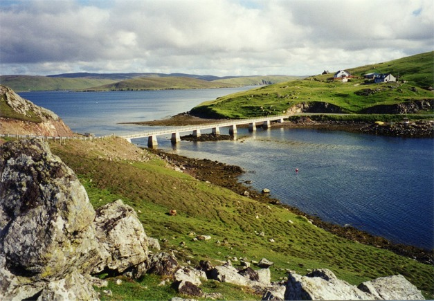 Bridge over Roe Sound to Muckle Roe Island