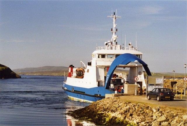 Gutcher ferry, Yell