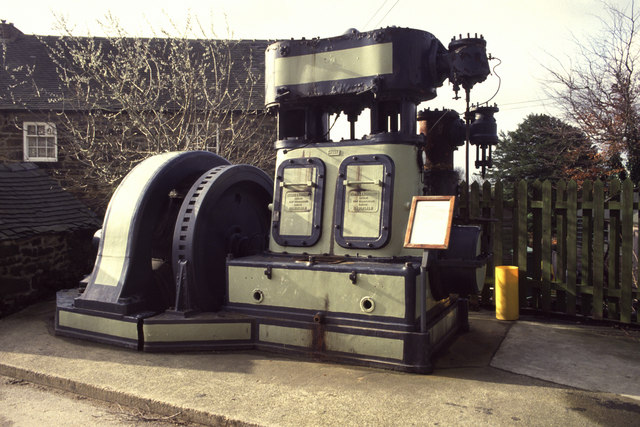 Steam engine at Crich Tramway Museum