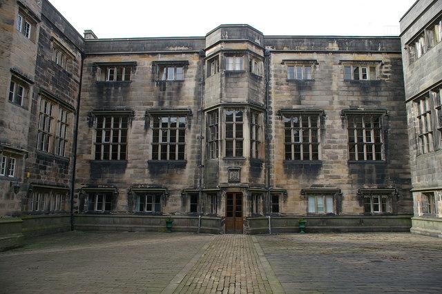 Courtyard in Stonyhurst College