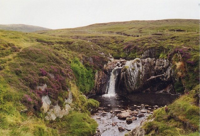 Waterfall on Burn of Lunklet, North Mainland