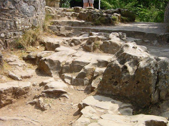 Worn steps on Symonds Yat