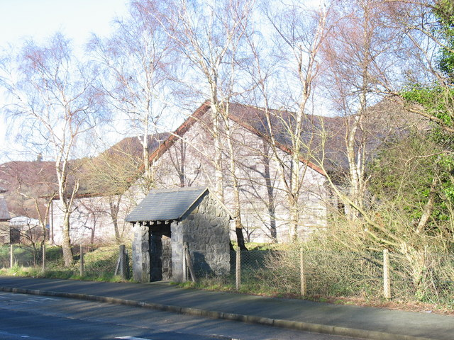 Bus shelter on the A4086 at Glynrhonwy