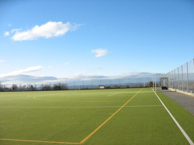 All weather sports pitch at Ysgol Brynrefail, Llanrug
