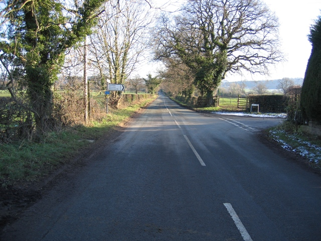 South East along Burwardsley Road
