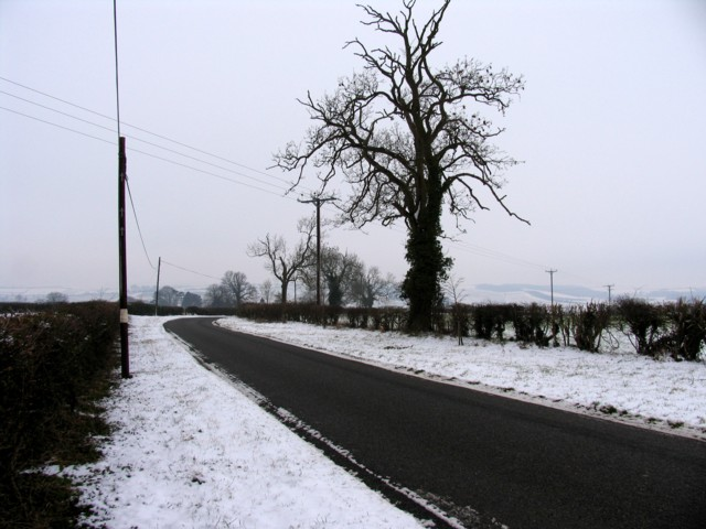 Road towards Stoke Dry
