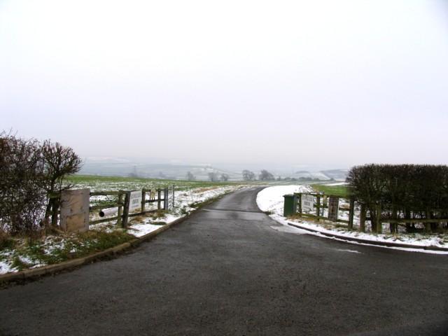 Driveway to Southfield Lodge