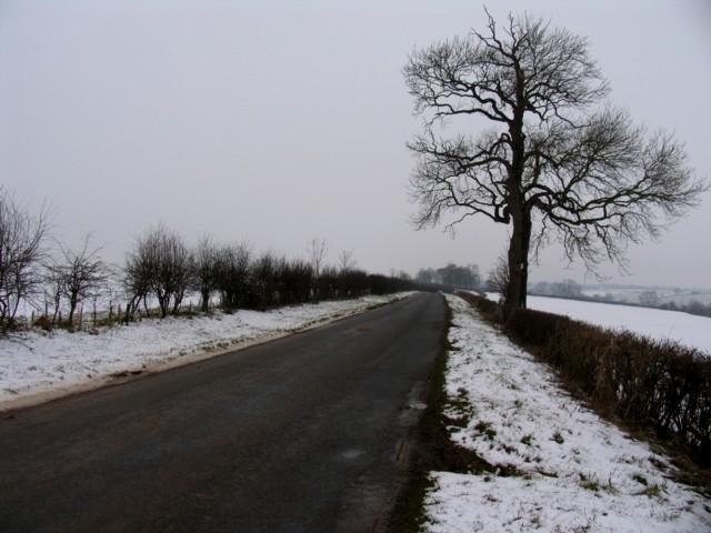 Seaton Road looking westwards towards Lyddington