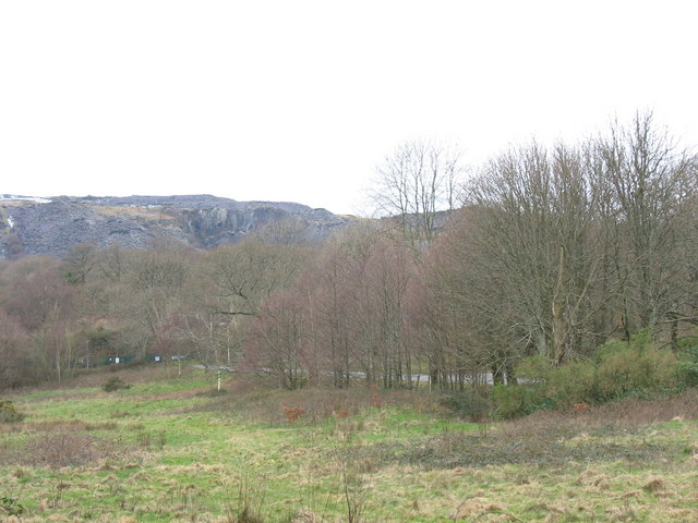 The Euro/DPC link road seen from Coed Doctor