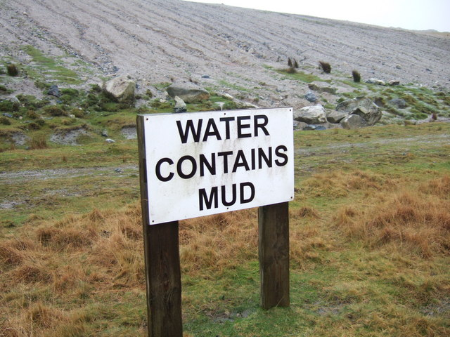 Water contains mud