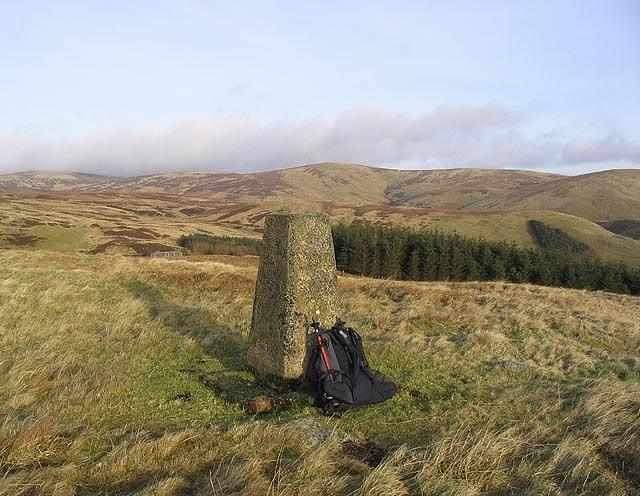 A survey pillar on Hunter Hill