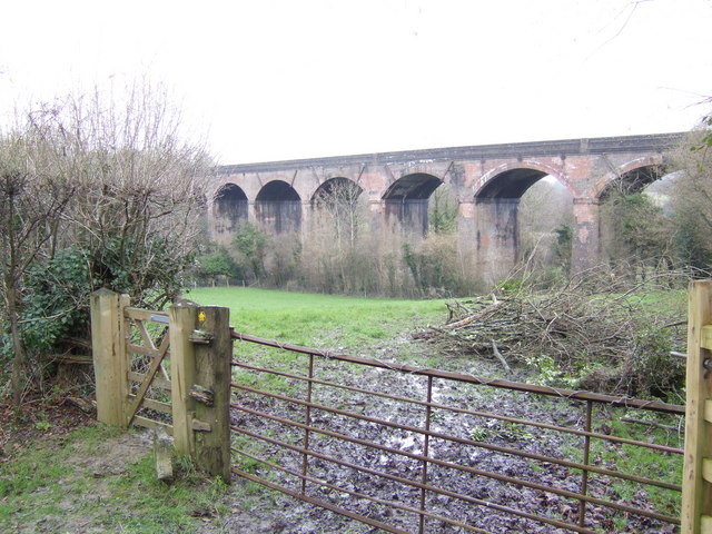 Viaduct over the upper Uck valley.