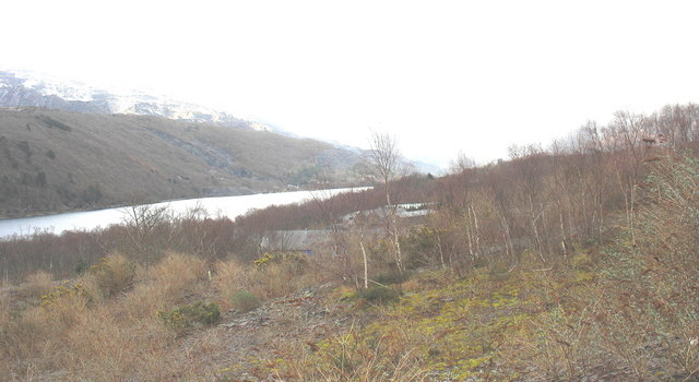 The buildings of the former RAF Llanberis from the bomb store fence