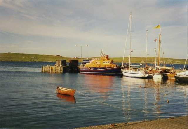 Lifeboat berthed at Lerwick