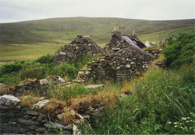 Abandoned croft, Northdale, Unst