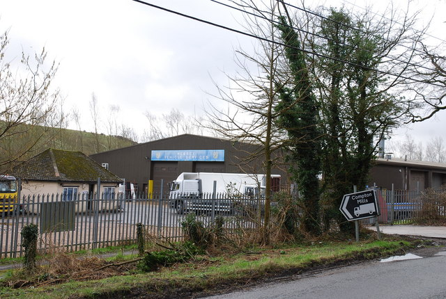 Compton Mills industrial site on A30