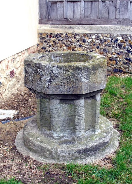 St Mary & All Saints, Rivenhall, Essex - Redundant font