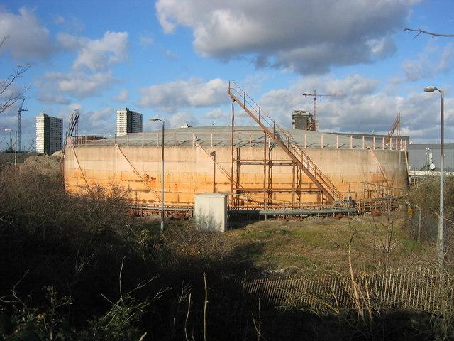 Redundant Gasholder, Lower Lea Valley, West Ham