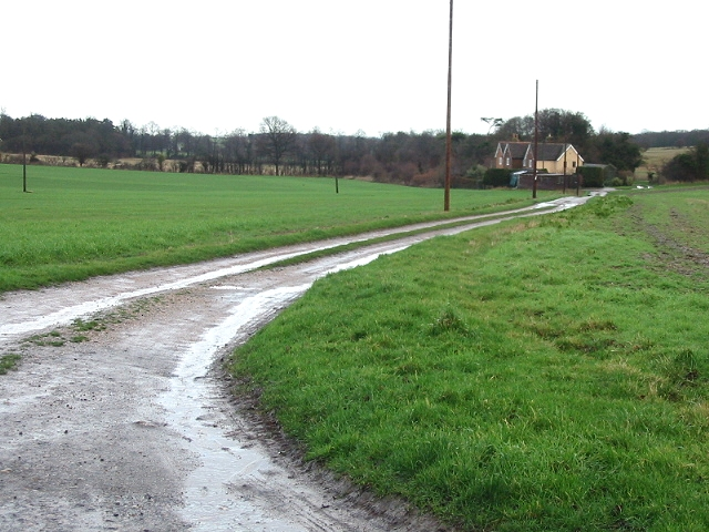 Track and farm house