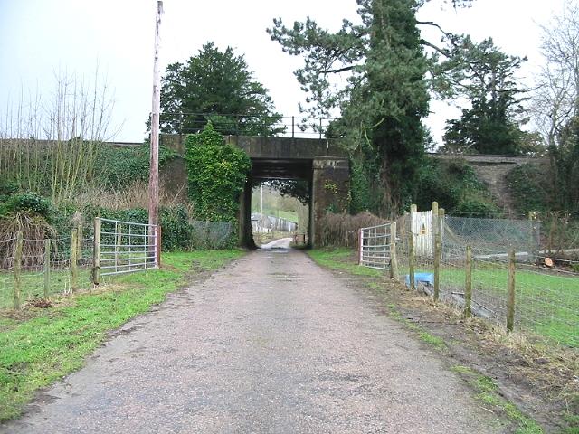 Farm road under the railway