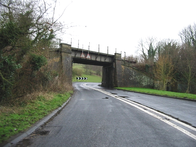 The London Dover line crosses the old A2 looking W