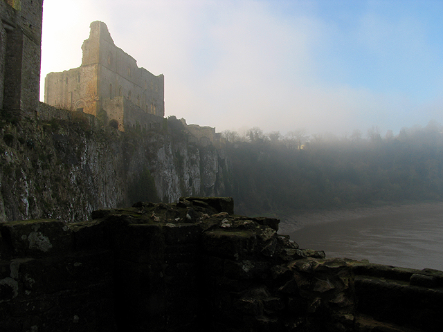 Winter Mist at Chepstow Castle