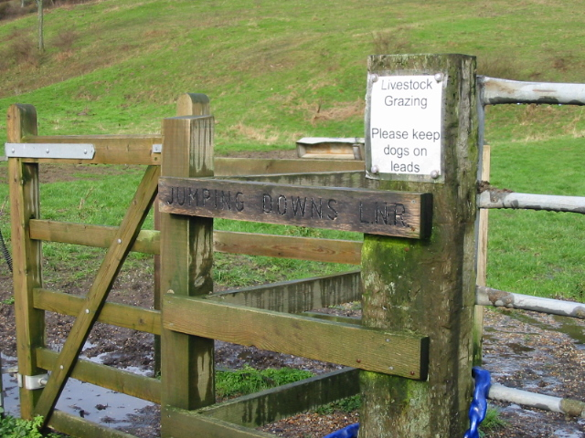 Gate to Jumping Downs nature reserve