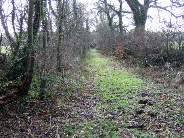 'Restricted byway' leading to Priskilly Forest