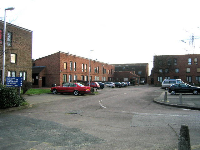 A residential court, Clays Lane Community, Feb 2007