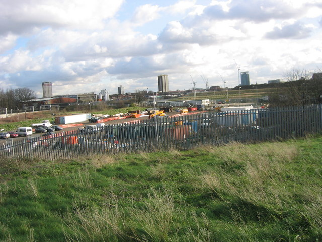 Stratford New Town from a mound at Eastway Cycle Circuit