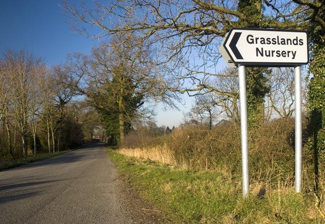 Sign to Grasslands Nursery