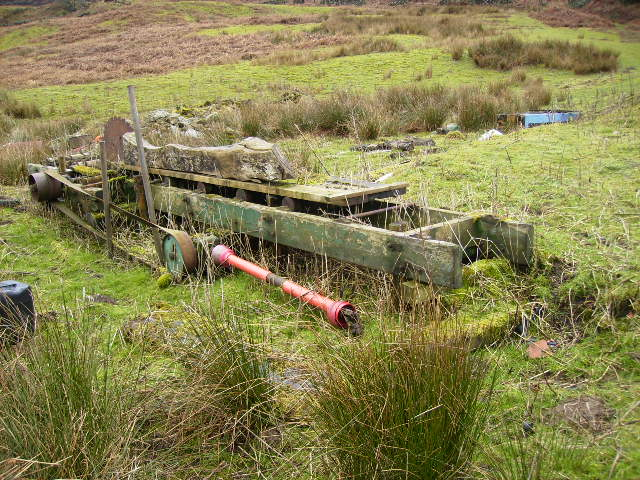 Abandoned tractor driven sawmill at Moorlands farm
